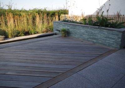 oak decking rill garden construction