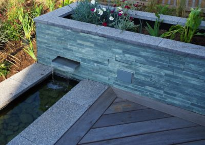 rill and waterfall garden design