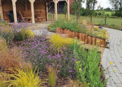 sloping garden planting scheme