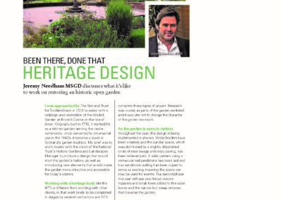 SGD article - Garden designer Scotland